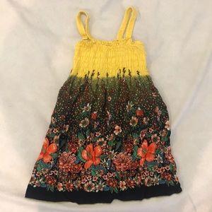 Girls Elastic Floral Tube Dress Size 4/5